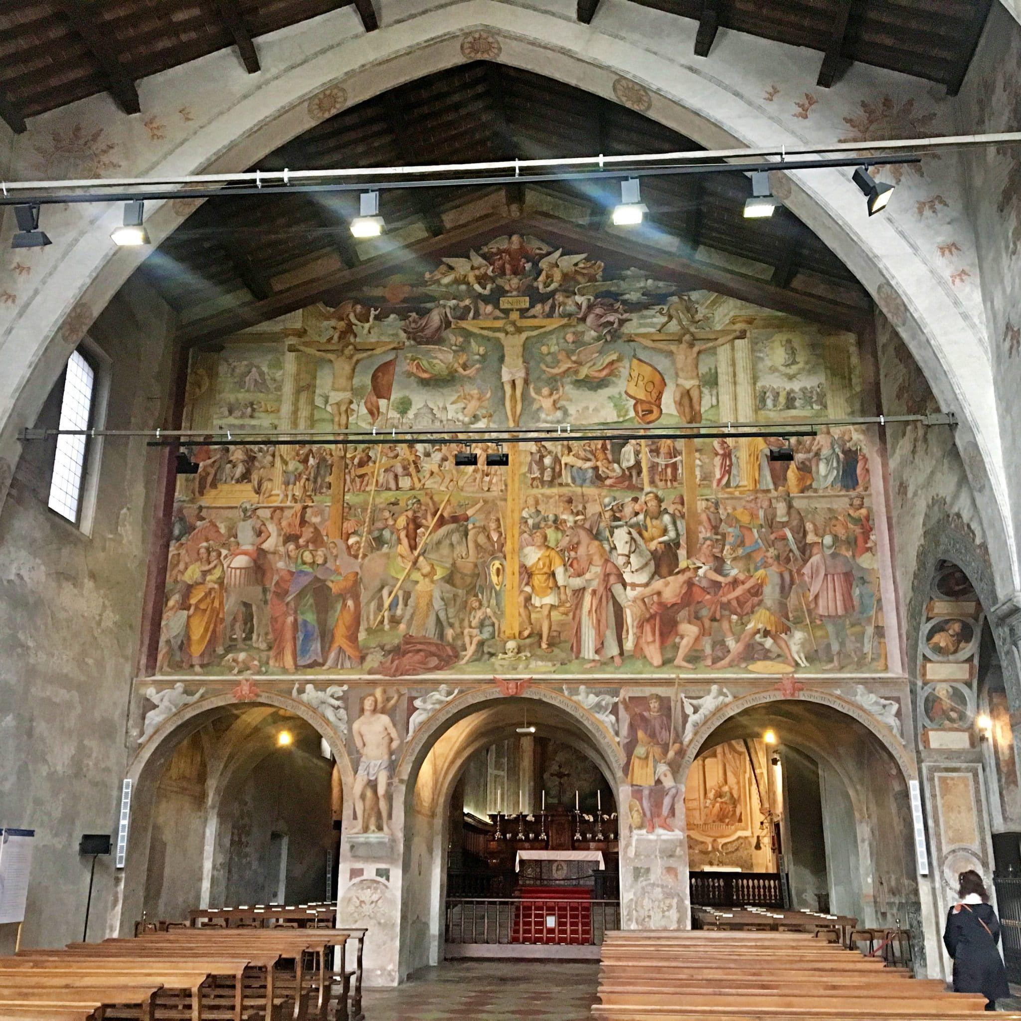 Interior da Igreja de Santa Maria degli Angioli
