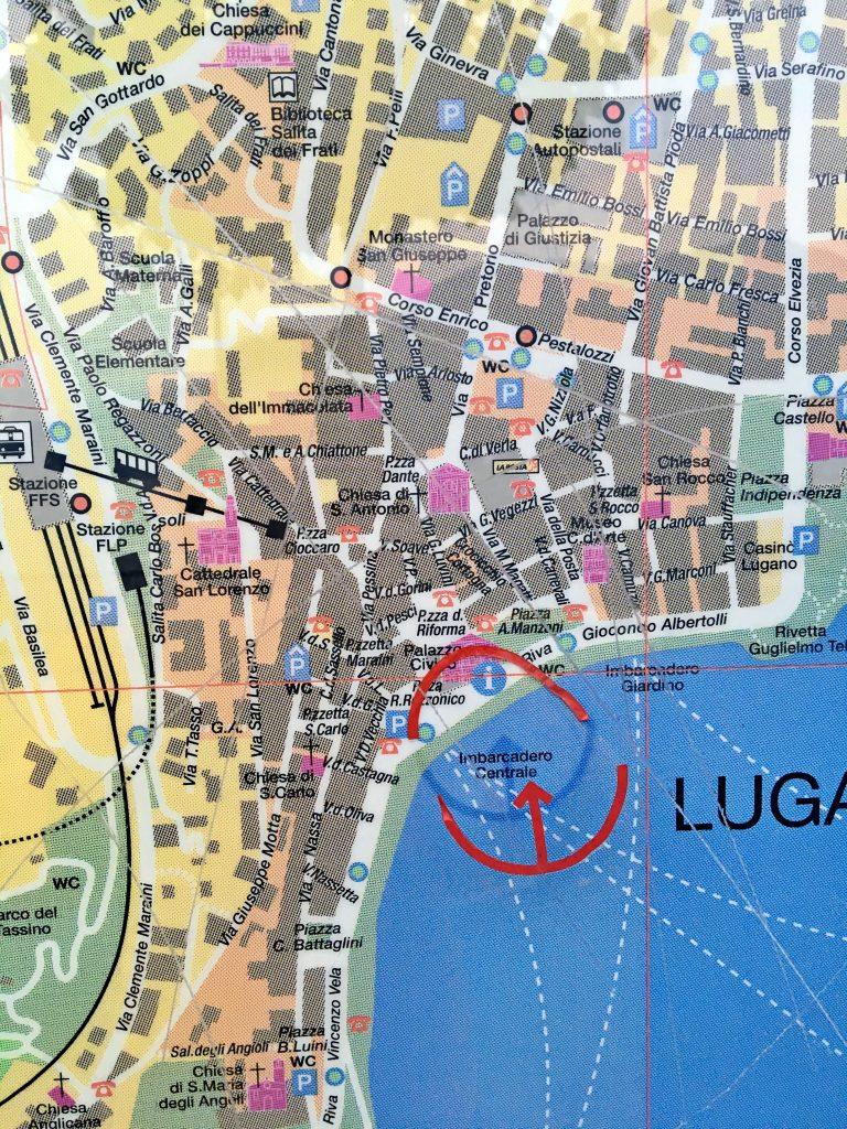 Mapa de Lugano
