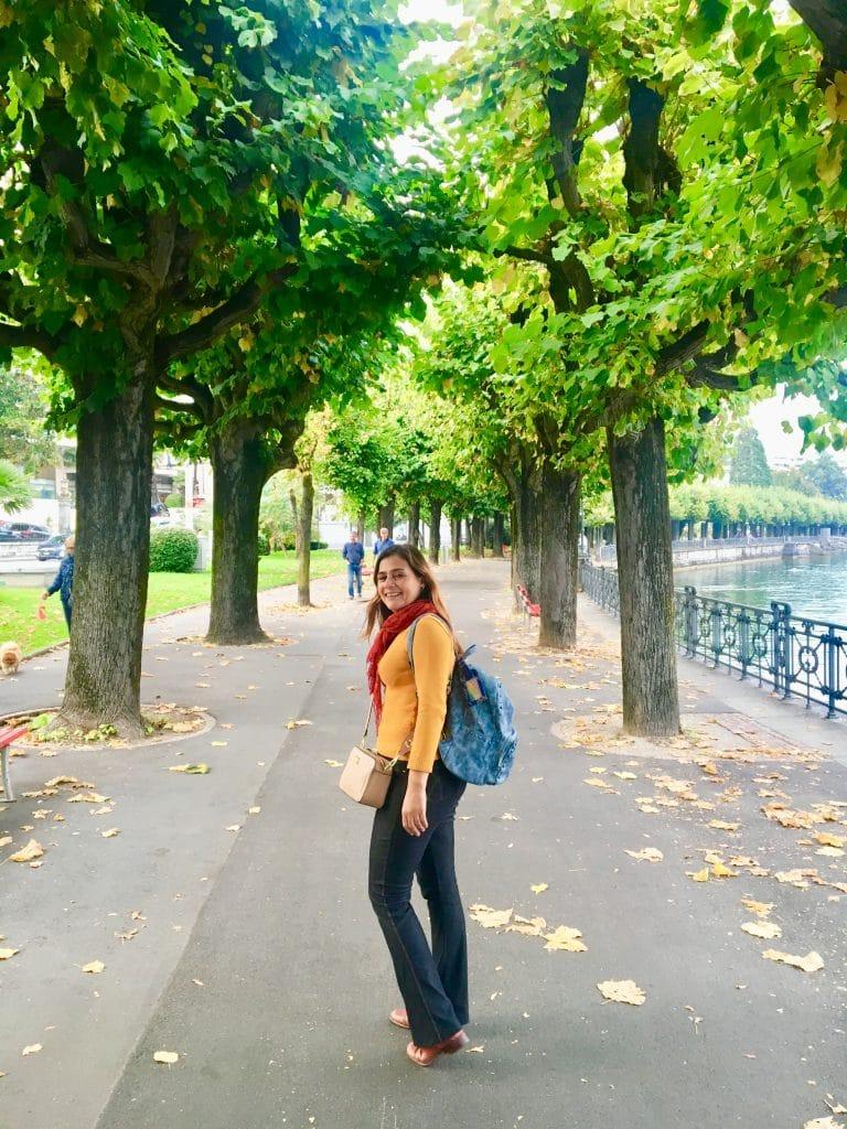 Caminhada a beira do Lago de Lugano