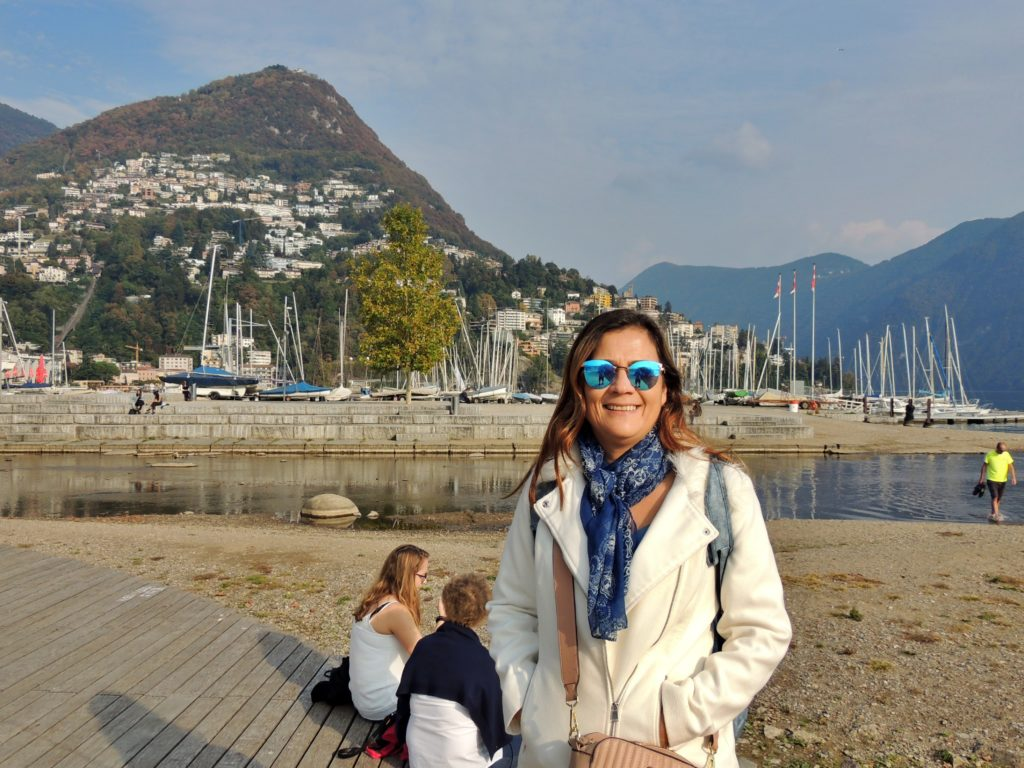 Praia do Lago de Lugano