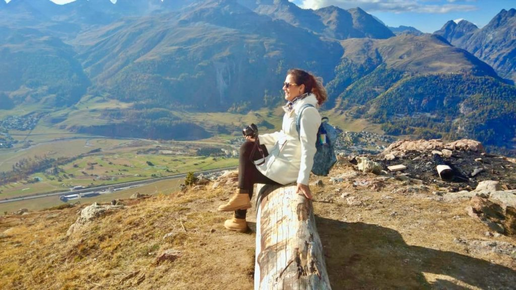 Vista do Vale do Engadin - St. Moritz - Suíça