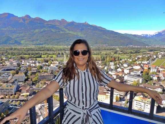 Vista da cidade de Vaduz - Liechtenstein