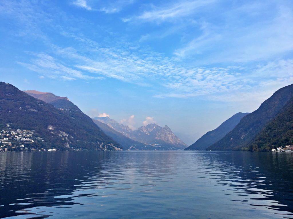 Lago de Lugano de barco