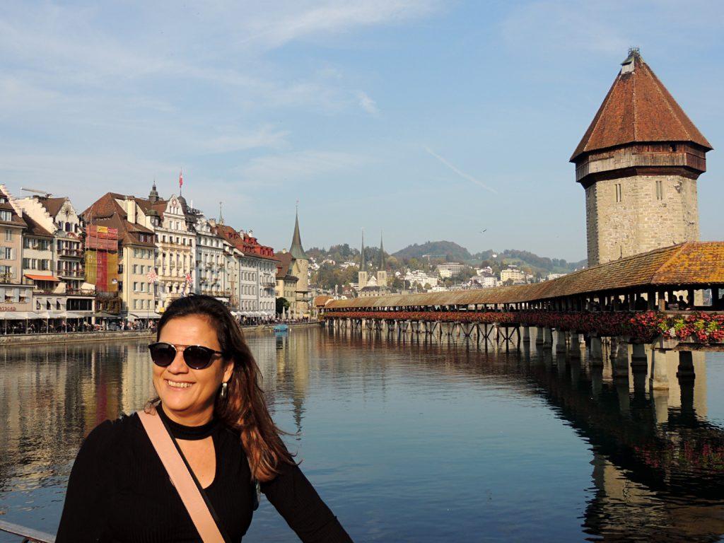 Kapellbrücke - Ponte da Capela e Torre Octogonal, uma das pontes de madeiras mais antigas do mundo