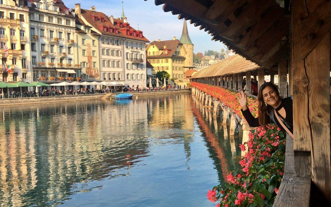 Lucerna, uma vila medieval na Suíça
