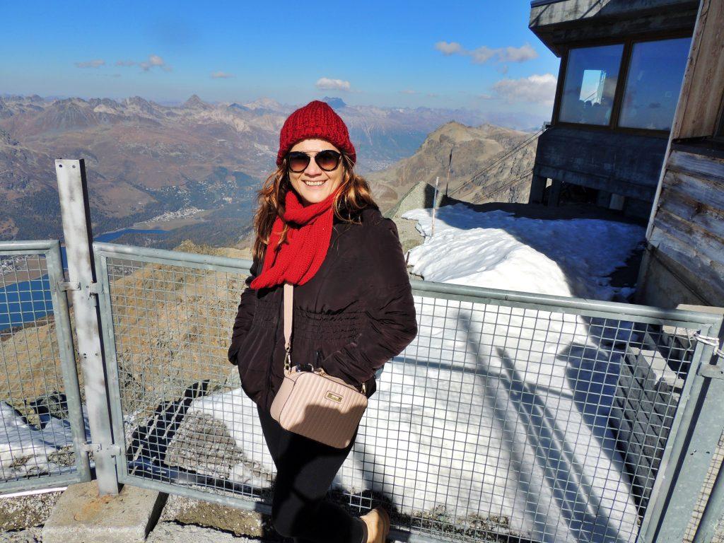 Vista panorâmica Corvatsch - St Moritz