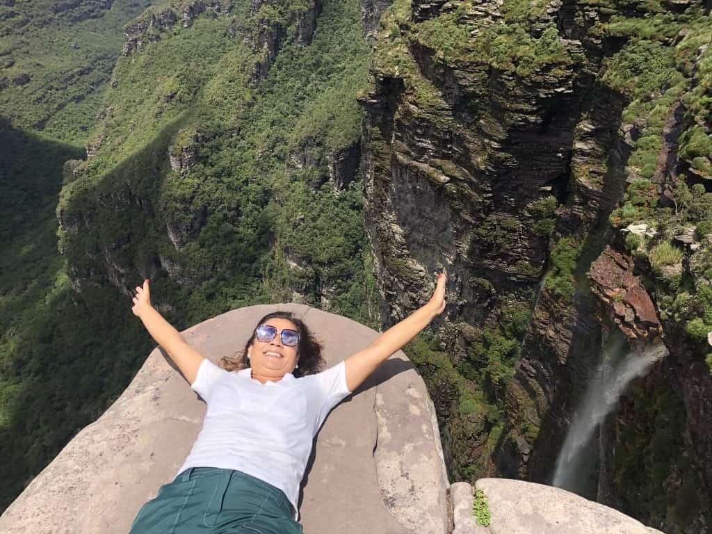 A Cachoeira da Fumaça é a principal atração do Vale do Capão na Chapada Diamantina