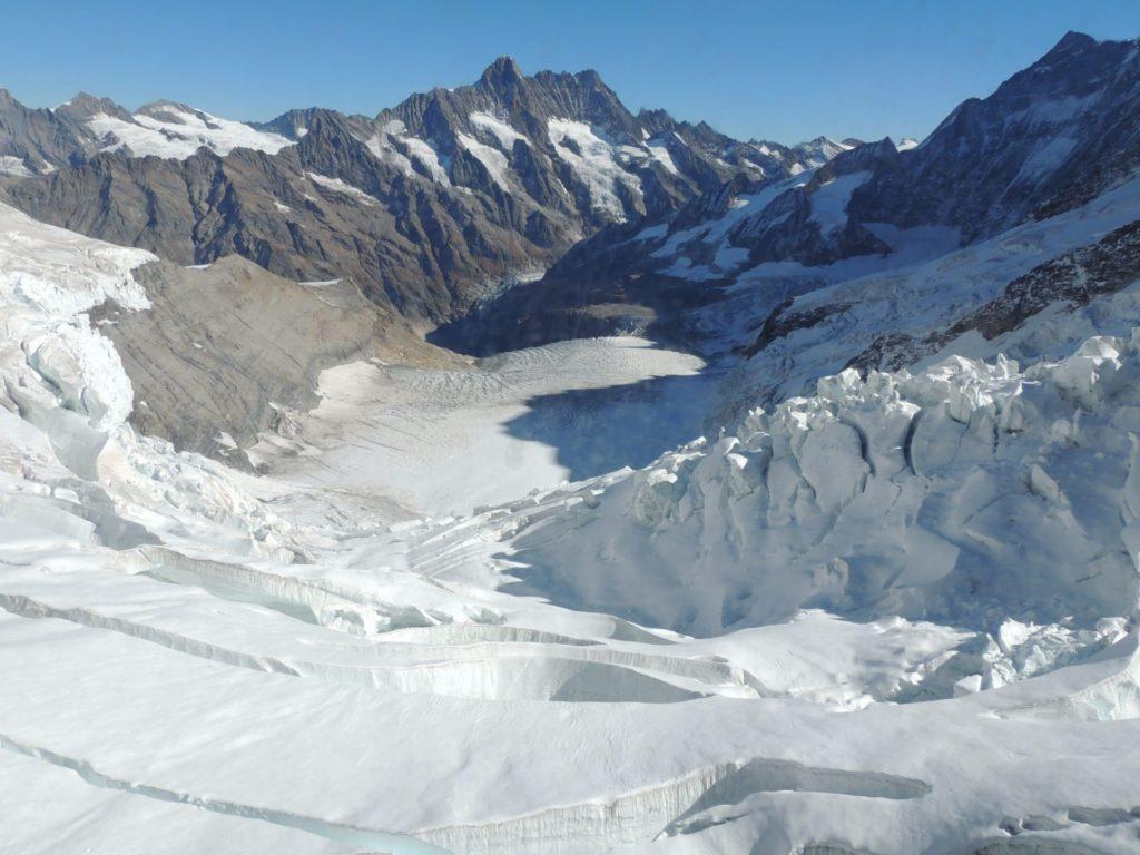 Vista das geleiras