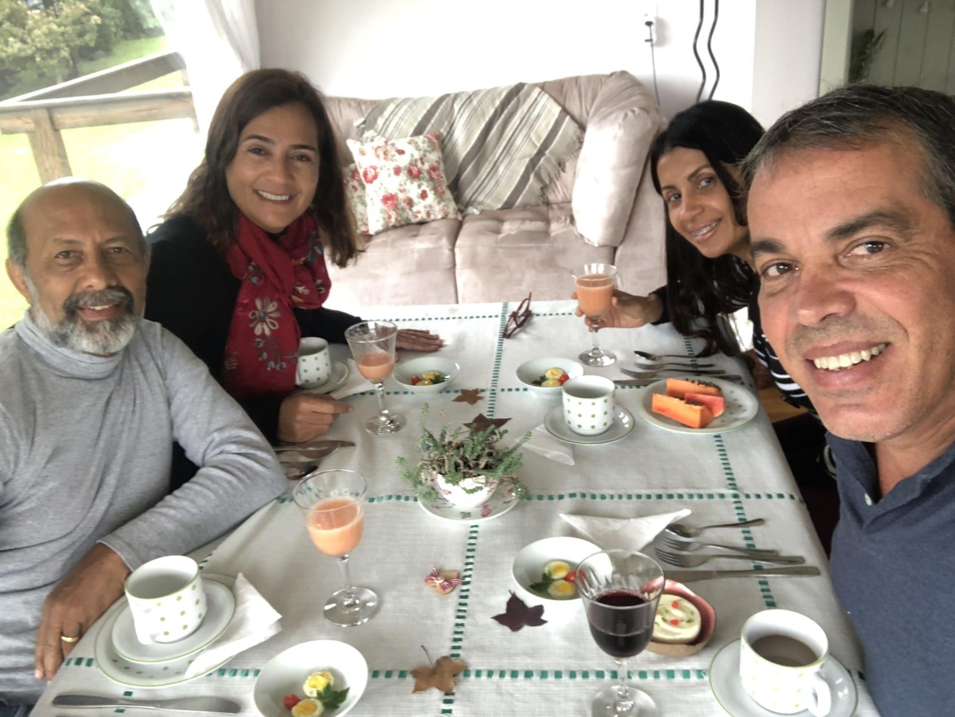 Café da manhã da Pousada Cantos e Encantos