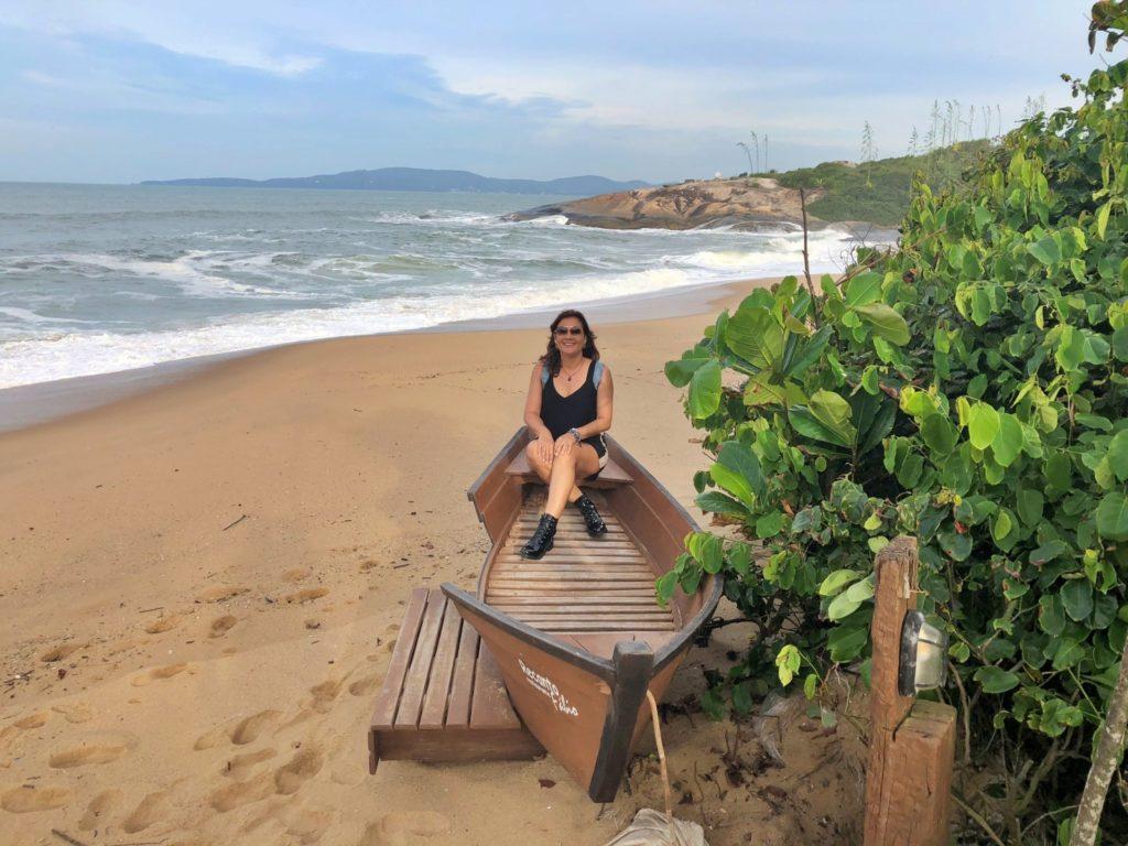 A linda Praia da Ilhota em Itapema