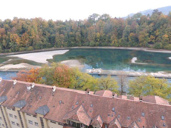 Um pouco mais sobre Berna : O rio Aar cruza toda a cidade