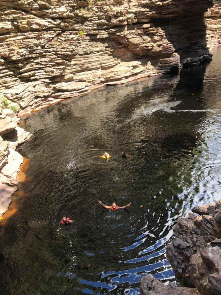 Poço da Gameleira na Cachoeira do Buracão