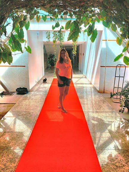 Acesso ao quartos do Hotel Girassol Plaza