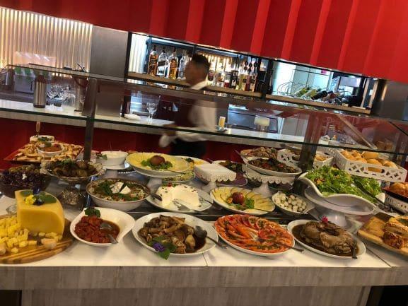 Restaurante Palazzo - Buffet no jantar