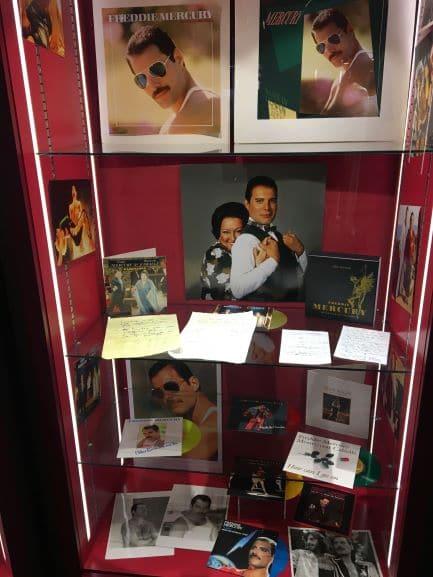 Álbuns de Freddie Mercury no Museu The Queen Studio Experience