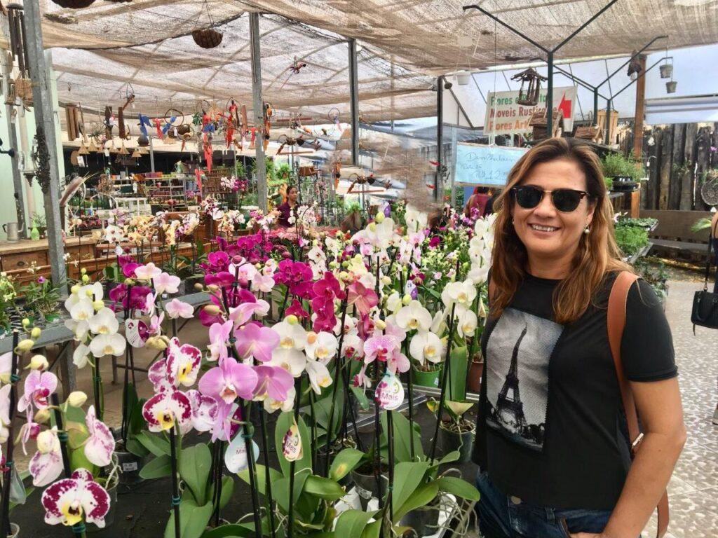 Lojas de flores em Holambra, capital nacional das flores