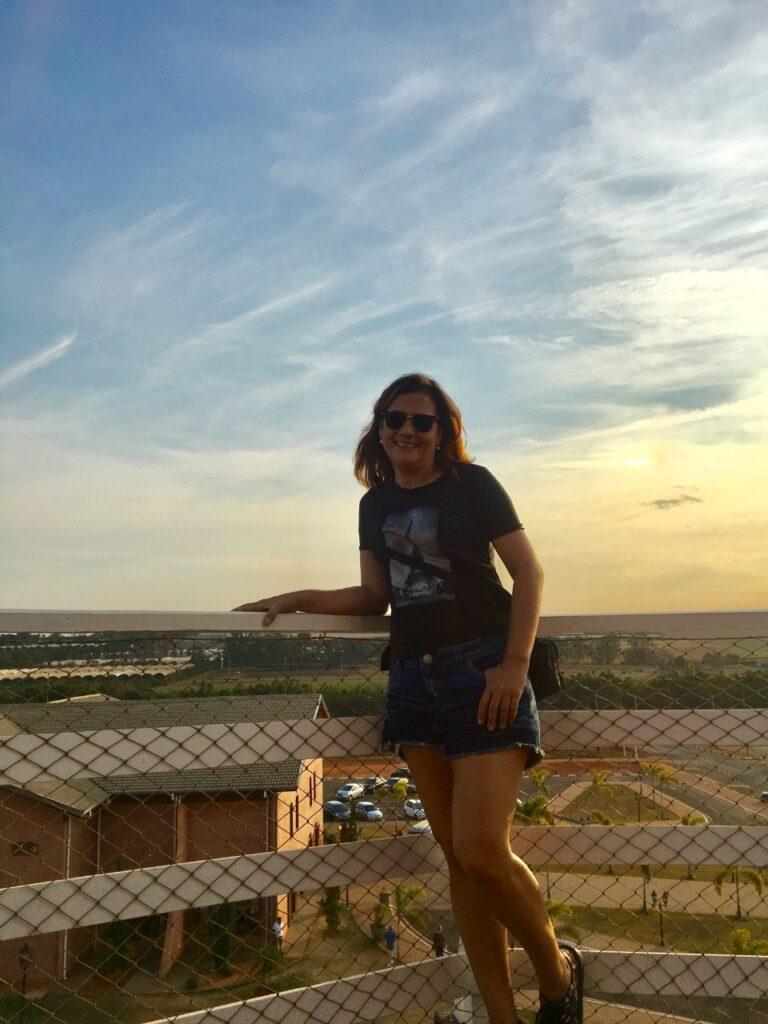 Vista do alto do Moinho dos Povos Unidos em Holambra - SP