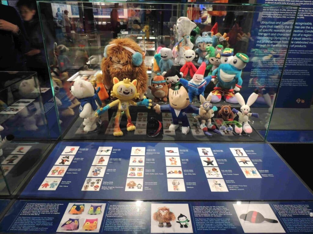Museu Olímpico de Lausanne - Os mascotes dos Jogos Olímpicos