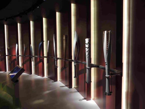 Museu Olímpico de Lausanne - Tochas Olímpicas