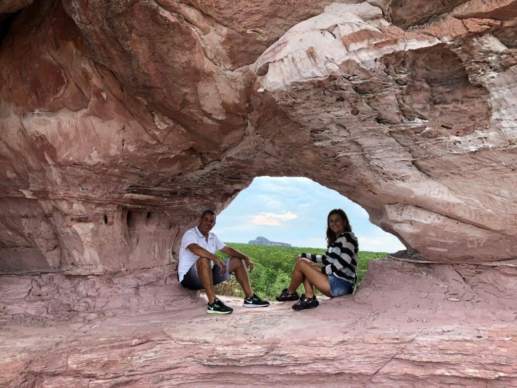 O mais famoso buraco da Pedra Furada Jalapão no Tocantins