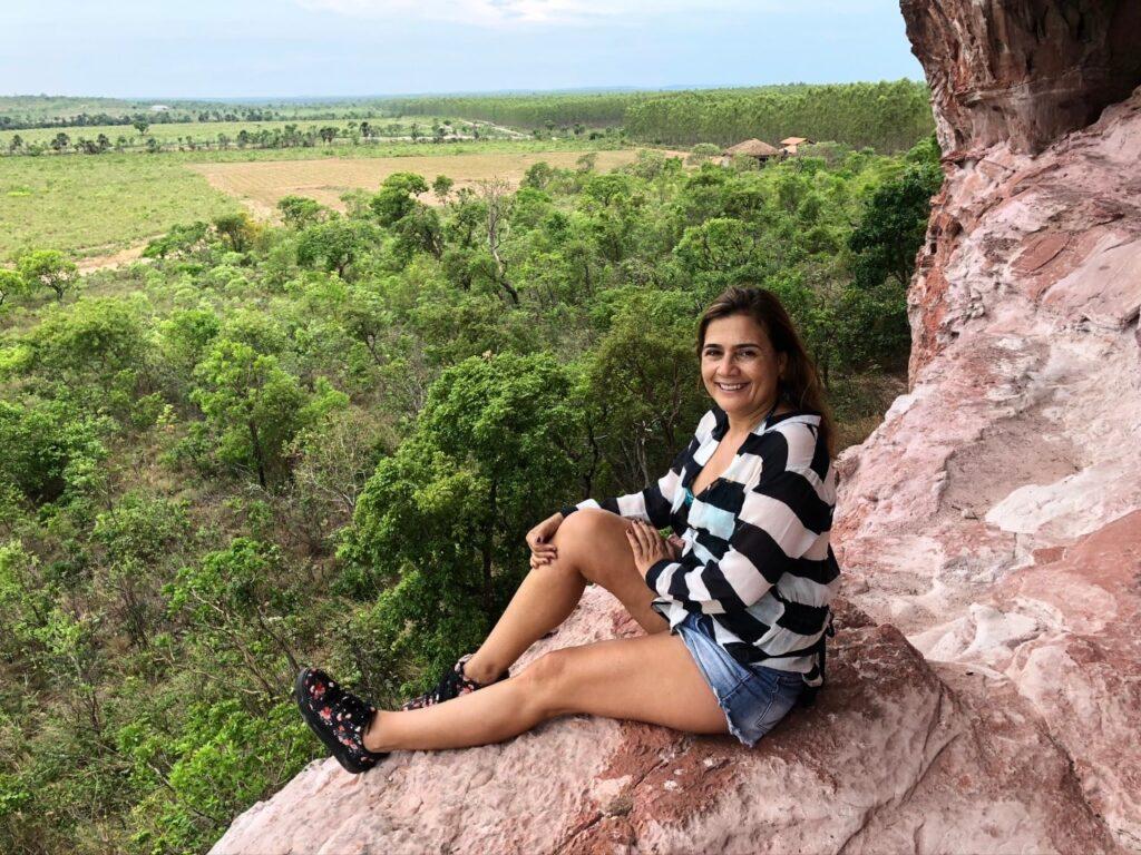 Vista da Pedra Furada do Jalapão no Tocantins