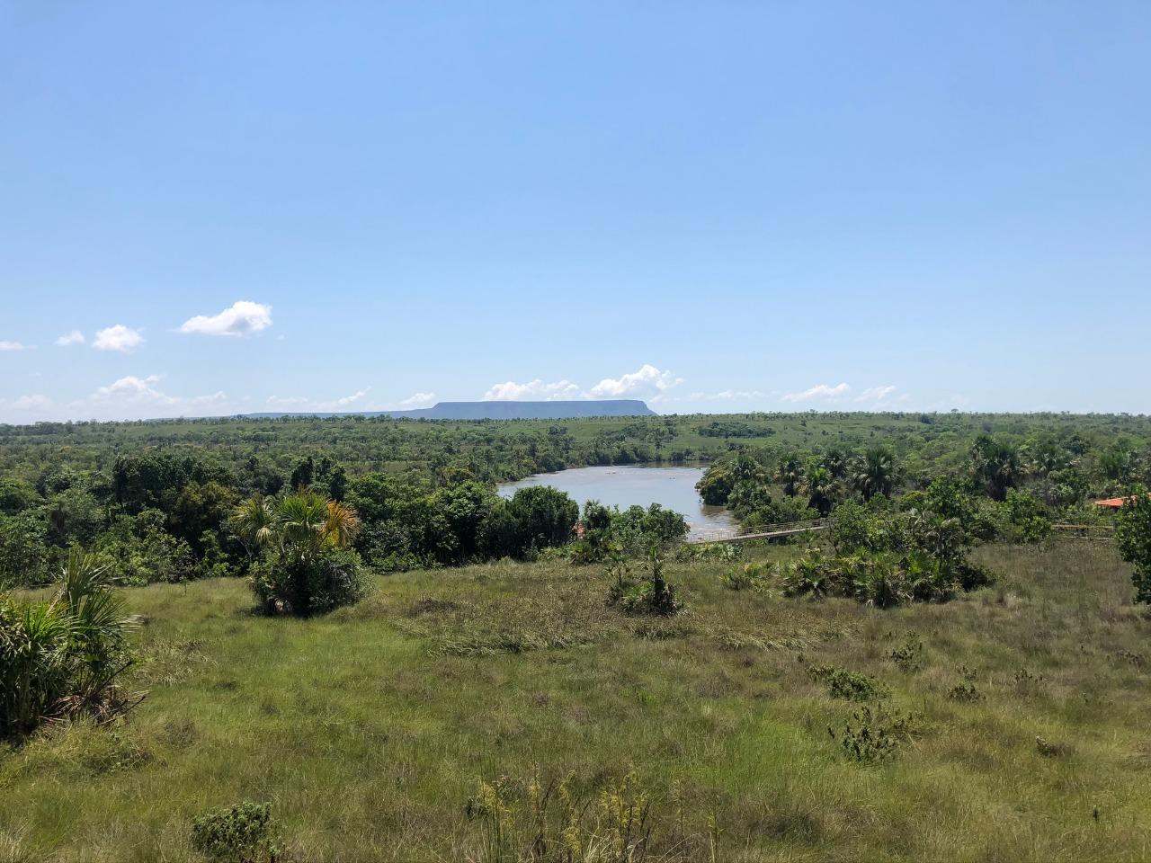 Vista na chegada da Cachoeira da Velha
