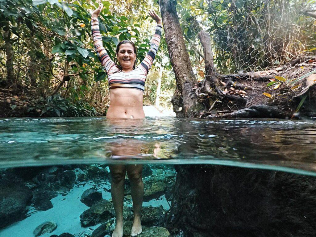 Atração do nosso terceiro dia no Jalapão - Cachoeira do Formiga