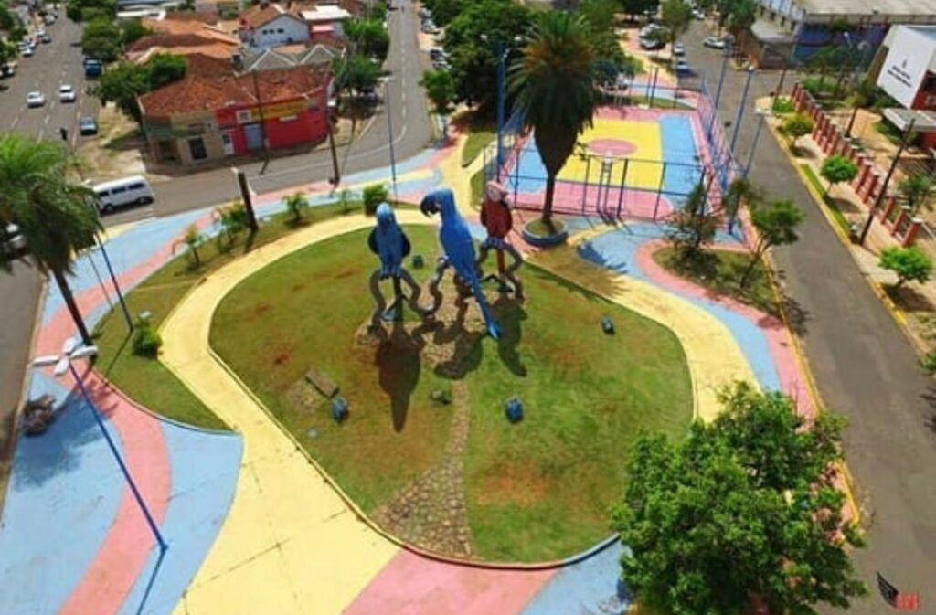Praça das Araras em Campo Grande - MS