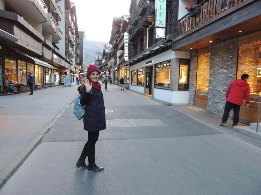 A Vila de Zermatt na Suiça