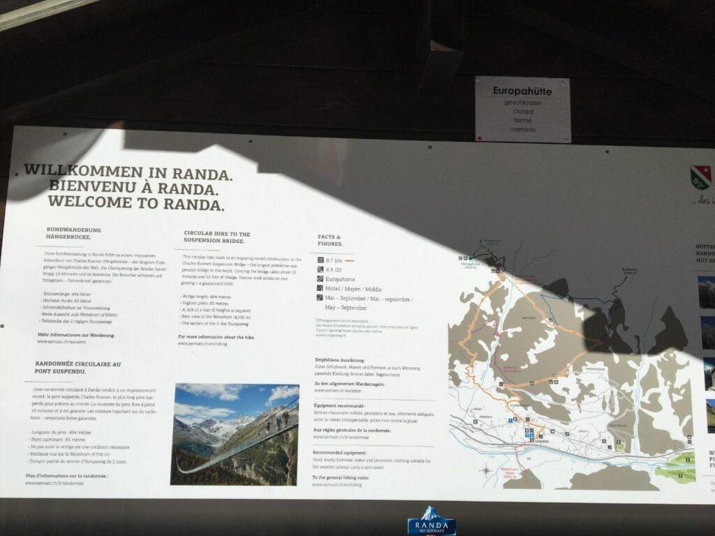 Bem vindo a Randa na Suiça