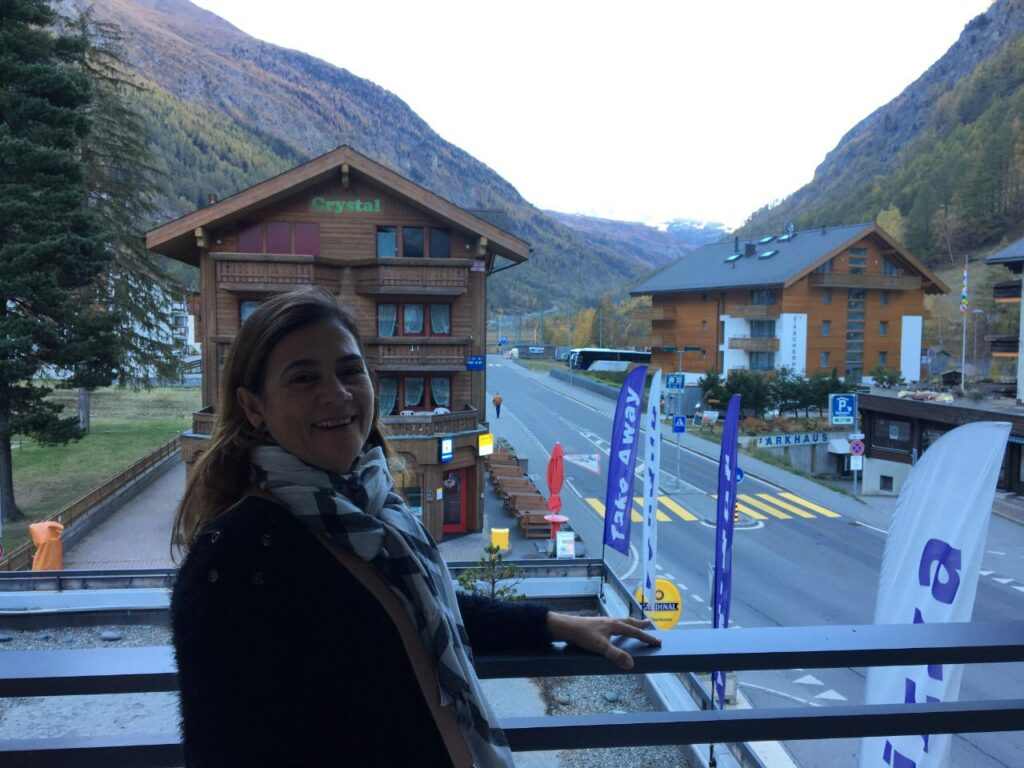 Para conhecer Zermatt, fiquei hospedada em Tasch