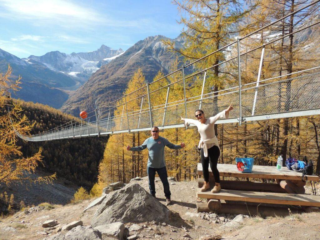 Bom demais chegar ao destino: Ponte Charles Kuonen