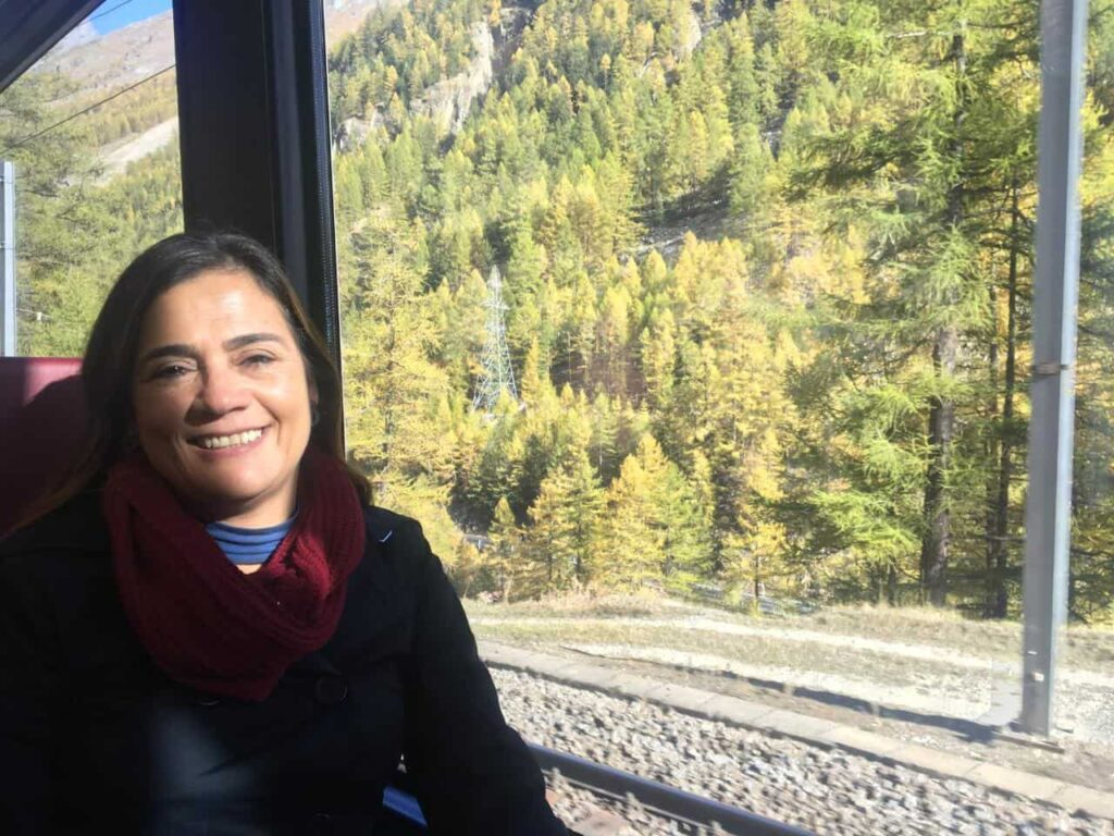 O acesso a Gornergrat 360 é feito de trem