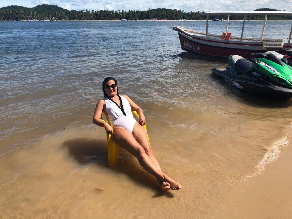 Praia do Guadalupe, vizinha a Praia dos Carneiros tem um delicioso banho de rio