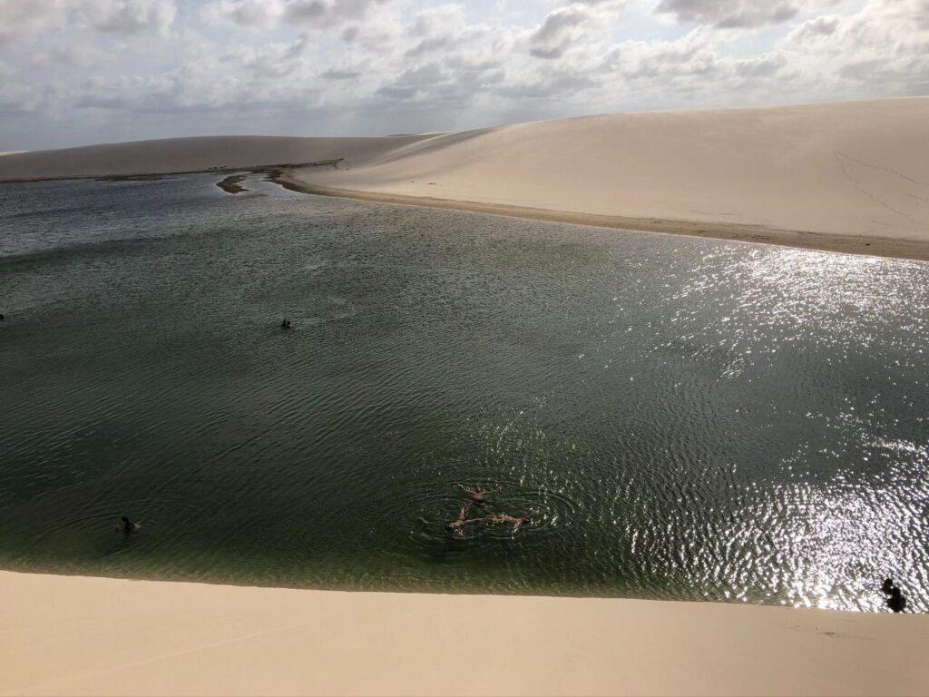 A encantadora Lagoa do Gavião nos Lençóis Maranhenses
