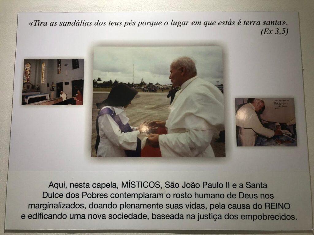 Irmã Dulce: Memorial e Santuário Santa Dulce dos Pobres - O encontro com Paulo II