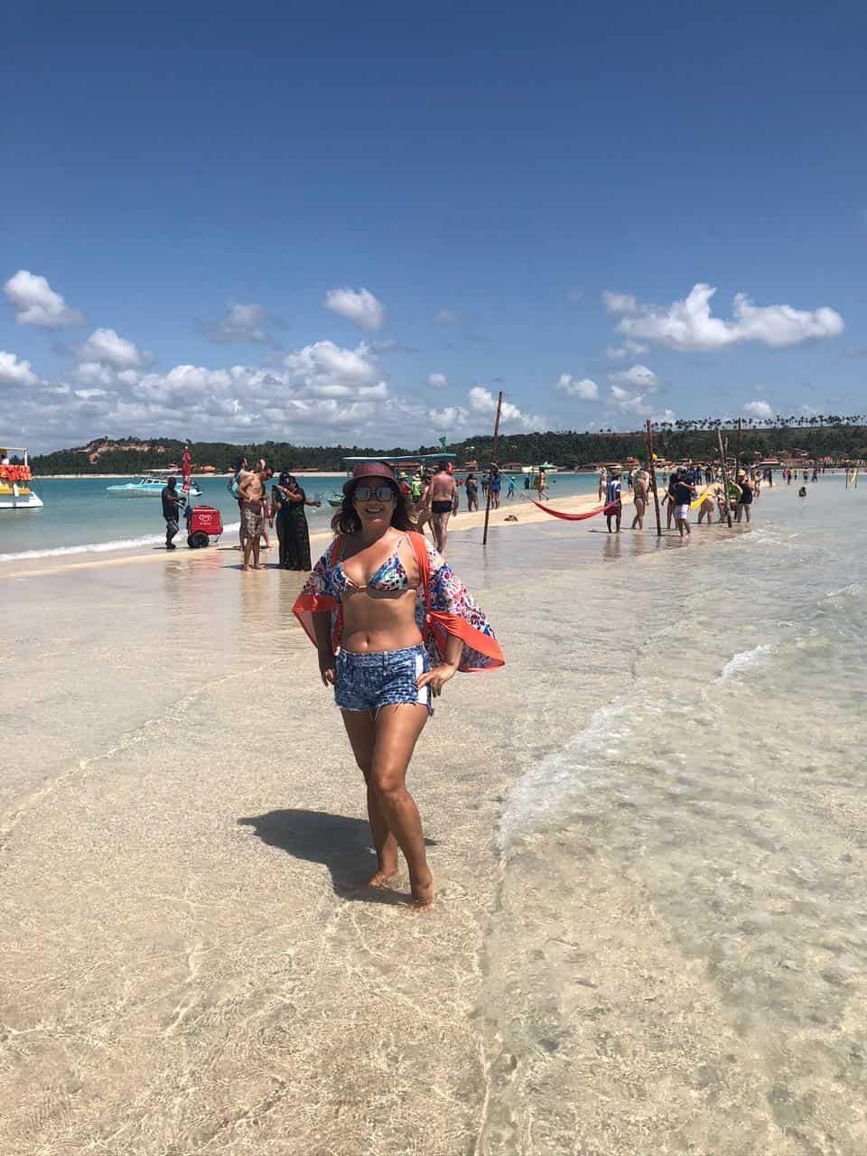 Caminho de Moises na Praia de Barra Grande em Maragogi Alagoas