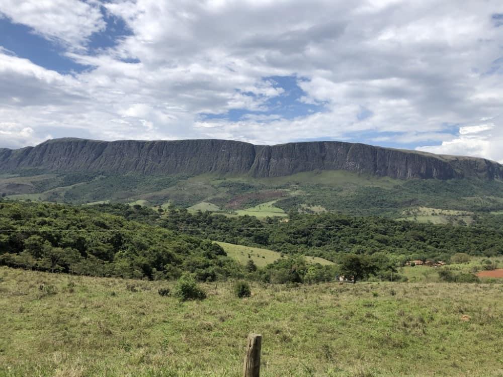 A Serra da Canastra é uma rica região em ecoturismo e está localizada em Minas Gerais no Parque Nacional da Serra da Canastra - vista de São José do Barreiro