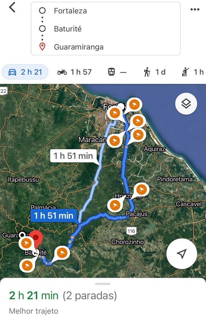 Como chegar a Guaramiranga Ce