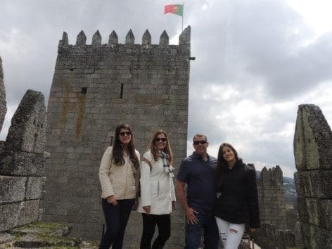 A cidade de Guimaraes é conhecida como o berço de Portugal - O Castelo de Guimarães