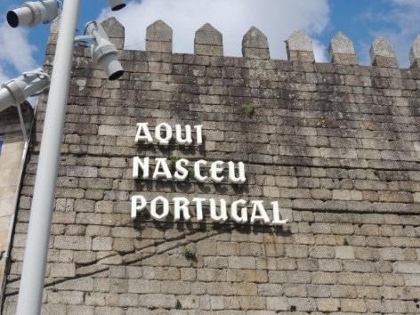 A cidade de Guimaraes é conhecida como o berço de Portugal